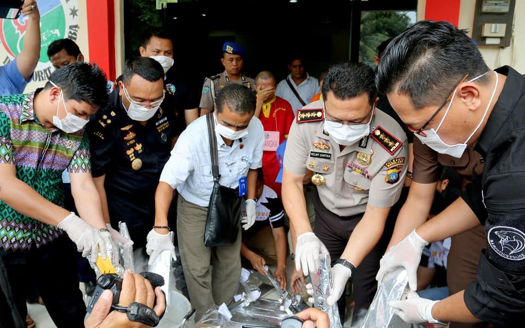 Polresta Barelang & Bea Cukai Batam Musnahkan Sabu 26,5 kg