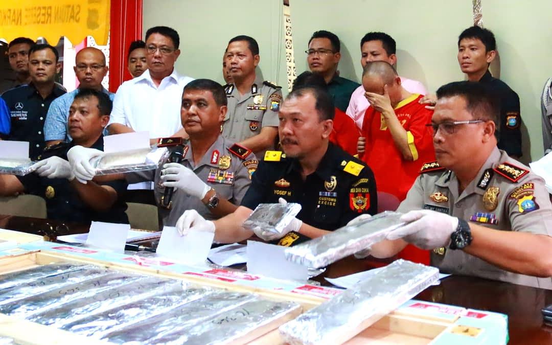 Press Release Penggagalan Upaya Penyelundupan Sabu 26,5 Kg Berkat Sinergi Bea Cukai-Kepolisian