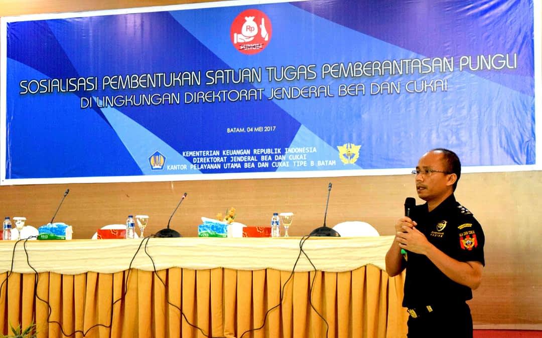 Sosialisasi Pembentukan Satuan Tugas Pemberantasan Pungli di Lingkungan KPU Bea dan Cukai Tipe B Batam