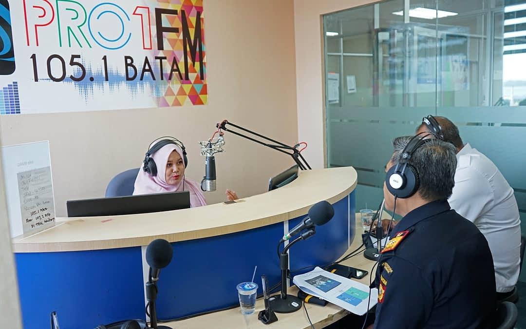 Bea Cukai Batam Sambangi Radio Republik Indonesia (RRI) Pro 1 Batam