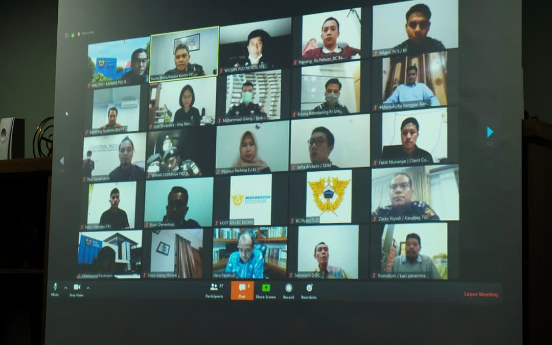 Video Conference Bersama Direktur Jenderal Bea Cukai